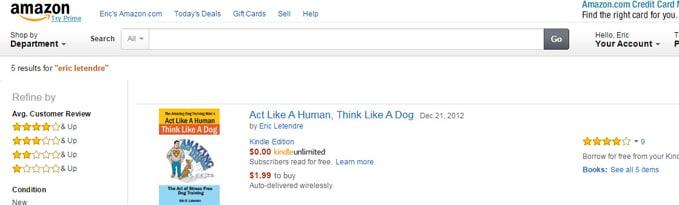 Amazing Dog Training Man on Amazon