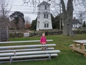 Scarlett at the Spite Tower in Adamsville RI.